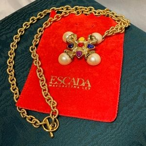 Escada Jewelry - Escada Gold Pendant & Chain